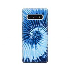 قاب سامسونگ Galaxy S10 وینا با اسم دلخواه مدل Tie Dye – Blue
