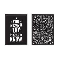تابلو دیواری دو تکه Try